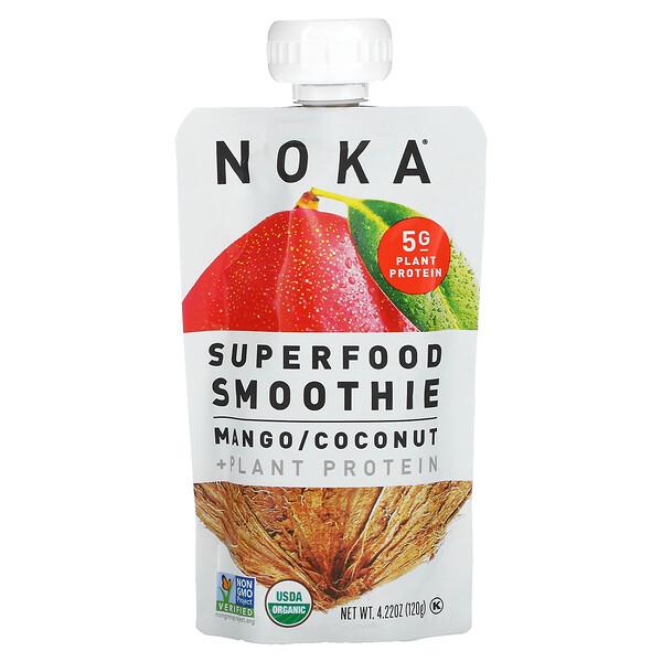 Superfood Smoothie + Plant Protein, Mango, Coconut, 4.22 oz (120 g)