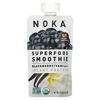 Noka, Superfood Smoothie + Plant Protein, Blackberry, Vanilla, 4.22 oz (120 g)