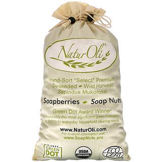NaturOli, Organics® 人工精選無患子,含 2 個穆斯林抽繩袋,32 盎司