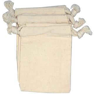 NaturOli, Muslin Draw String Wash Bags, 3 Bags