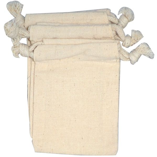 NaturOli, Bolsitas para lavado de muselina con cuerda, 3 bolsas