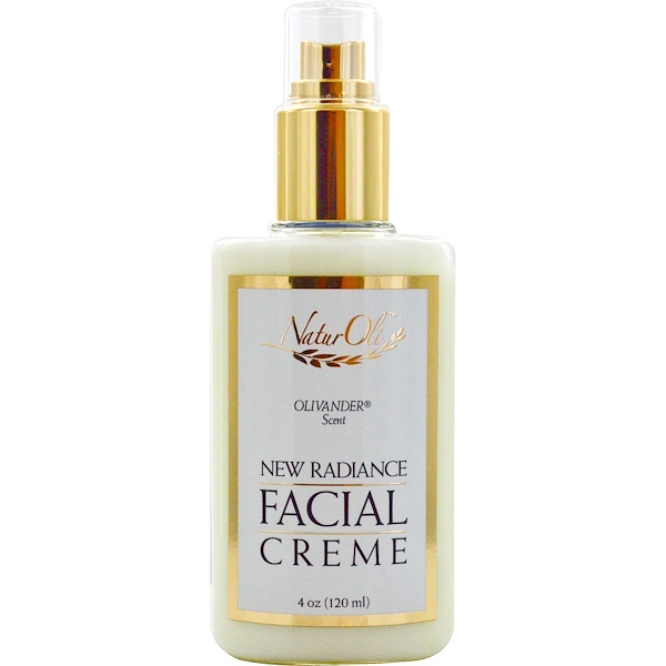 NaturOli, New Radiance, Facial Creme, Olivander Scent, 4 oz (120 ml)