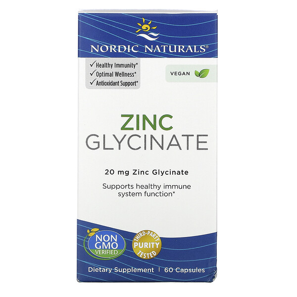Zinc Glycinate, 20 mg , 60 Capsules