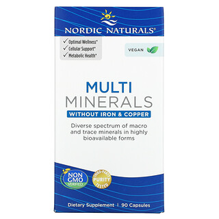 Nordic Naturals, Multi Minerals, Without Iron & Copper, 90 Capsules