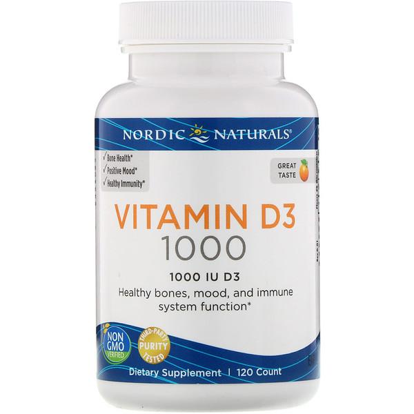 Vitamin D3, Orange, 1000 IU, 120 Count