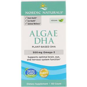 Nordic Naturals, Algae DHA, 500 mg, 60 Soft Gels'