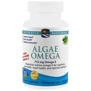 Nordic Naturals, Algae Omega, 715 mg, 60 Soft Gels