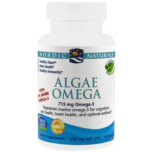 нордик Натуралс, Algae Omega, 715 mg, 60 Soft Gels отзывы покупателей