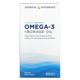 Nordic Naturals, Nordic Beauty, Omega-3 + Borage Oil, 60 Softgels