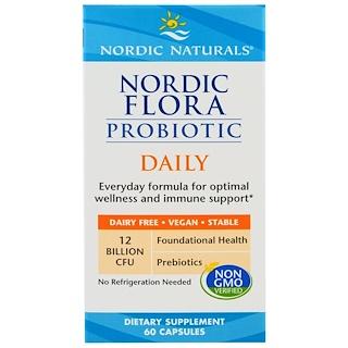 Nordic Naturals, Nordic Flora Probiotic Daily, 60 Capsules