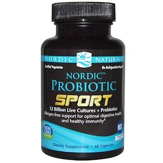 Nordic Naturals, Пробиотик Спорт, 60 капсул
