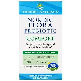 Nordic Naturals, Проиотик Nordic Flora Comfort, 30 капсул