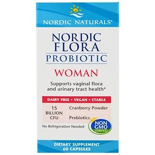 Nordic Naturals, Пробиотик Nordic Flora Woman, 60 капсул