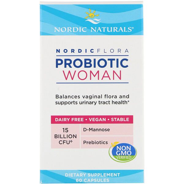 Nordic Flora Probiotic, Woman, 15 Billion CFU, 60 Capsules