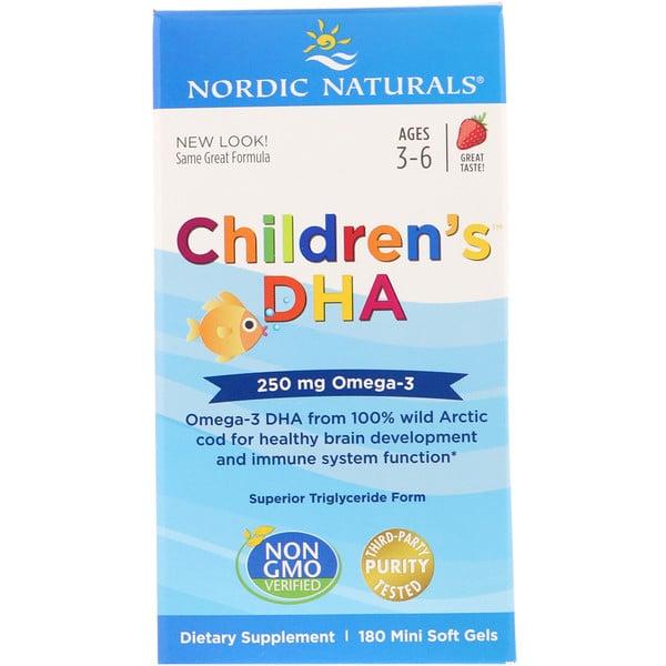 Children's DHA, Strawberry, 250 mg, 180 Mini Soft Gels