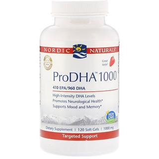 Nordic Naturals, ProDHA 1000، 1000 ملغ، 120 سوفتغيلس