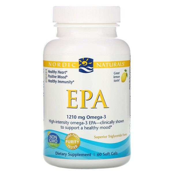 EPA, Lemon, 1000 mg, 60 Soft Gels