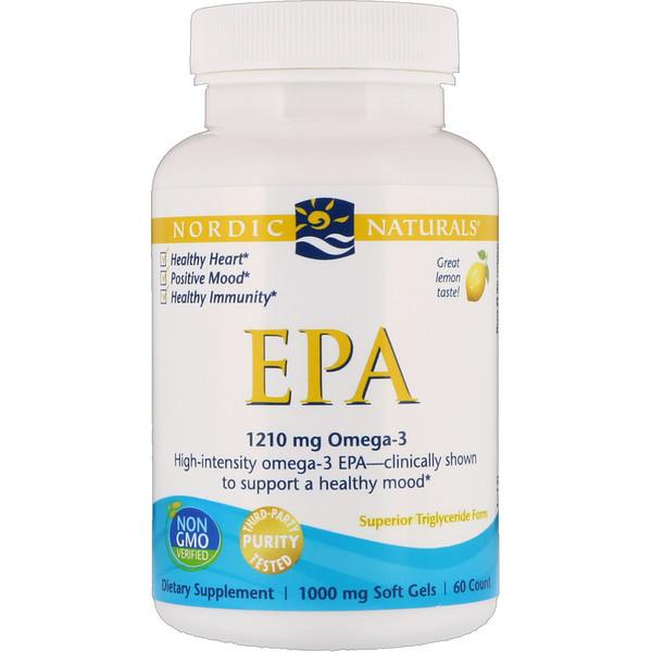 EPA, Limón, 1000 mg, 60 Pastillas Blandas de Gel
