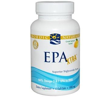 Nordic Naturals, ЭПК Экстра, лимон, 1000 мг, 60 гелевых капсул