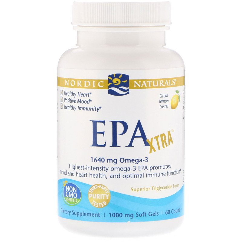 EPA Xtra, Lemon, 1000 mg, 60 Soft Gels