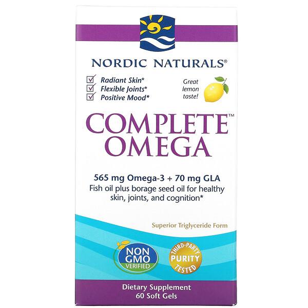Complete Omega, Lemon, 60 Soft Gels