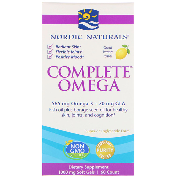 Complete Omega, Lemon, 1,000 mg, 60 Soft Gels