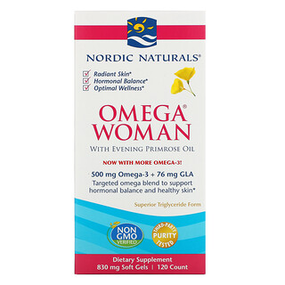 Nordic Naturals, Omega Woman with Evening Primrose Oil, 120 Soft Gels