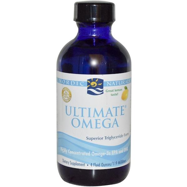 Nordic Naturals, Ultimate Omega, Lemon Flavor, 4 fl oz (119 ml)