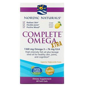нордик Натуралс, Complete Omega Xtra, Lemon, 1,000 mg, 60 Soft Gels отзывы