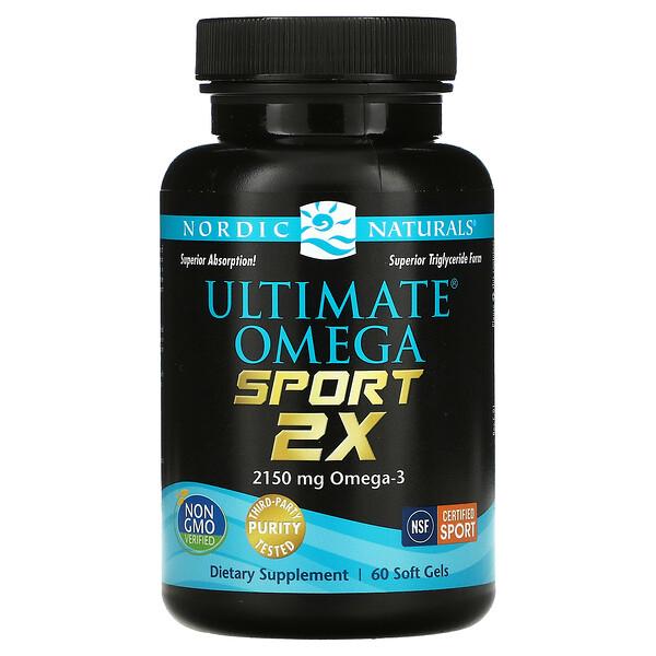 Nordic Naturals, Ultimate Omega Sport 2x, 1,075 mg, 60 Soft Gels