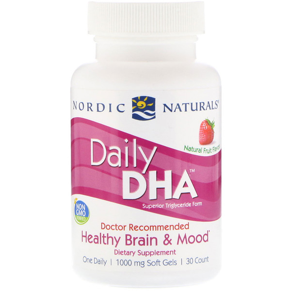 Daily DHA, Natural Fruit Flavor, 1,000 mg, 30 Soft Gels