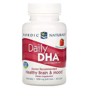 нордик Натуралс, Daily DHA, Natural Fruit Flavor, 1,000 mg, 30 Soft Gels отзывы