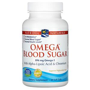 нордик Натуралс, Omega Blood Sugar, 896 mg, 60 Soft Gels отзывы покупателей