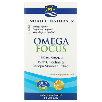 Купить Nordic Naturals Omega Focus, 1280мг, 60 мягких желатиновых капсул