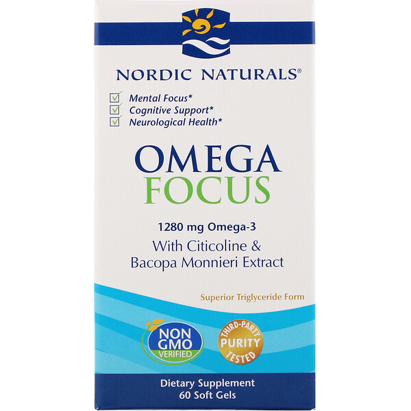 Omega Focus, 1,280 mg, 60 Soft Gels