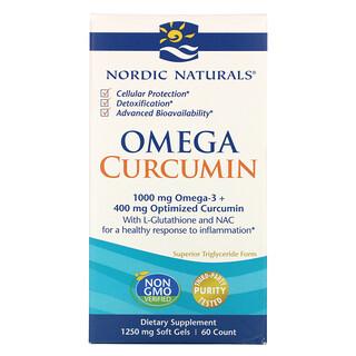 Nordic Naturals, Omega Curcumin, 1,250 mg, 60 Soft Gels
