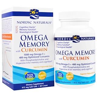 Nordic Naturals, Omega Memory with Curcumin, 975 mg, 60 Soft Gels