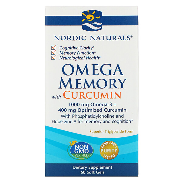 Omega Memory with Curcumin, 1,000 mg, 60 Soft Gels