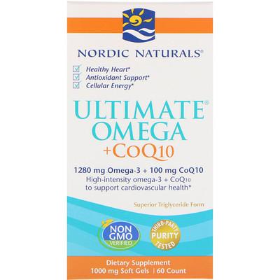 Ultimate Omega + CoQ10, 1000 мг, 60 мягких желатиновых капсул efagold мега дгк 1000 мг 60 мягких желатиновых капсул
