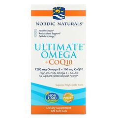 Nordic Naturals, Ultimate Omega + 輔酶 Q10,120 粒軟膠囊