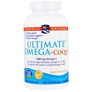 Nordic Naturals, アルティメットオメガ+ CoQ10、1000 mg、ソフトジェル120錠