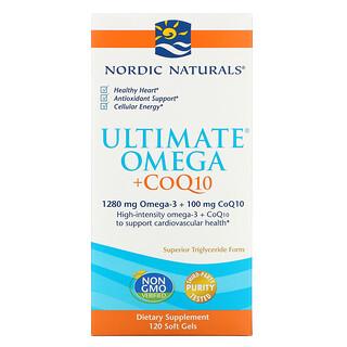 Nordic Naturals, Ultimate Omega + CoQ10, 120 Soft Gels