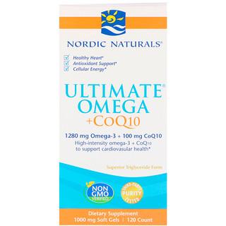 Nordic Naturals, Ultimate Omega + CoQ10, 1000 mg, 120 Soft Gels