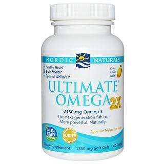 Nordic Naturals, Ultimate Omega 2x, Lemon, 60 Count