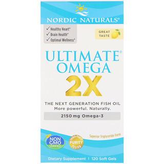 Nordic Naturals, ウルトラオメガ2X、2150 mg、120ソフトジェル