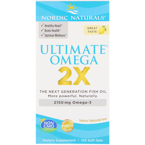 Nordic Naturals, Ultimate Omega 2X, 2150 mg, 120 Soft Gels