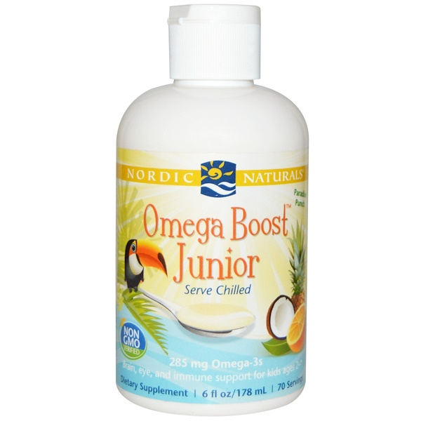 Nordic Naturals, Omega Boost Junior, Paradise Punch, 6 fl oz (178 ml) (Discontinued Item)