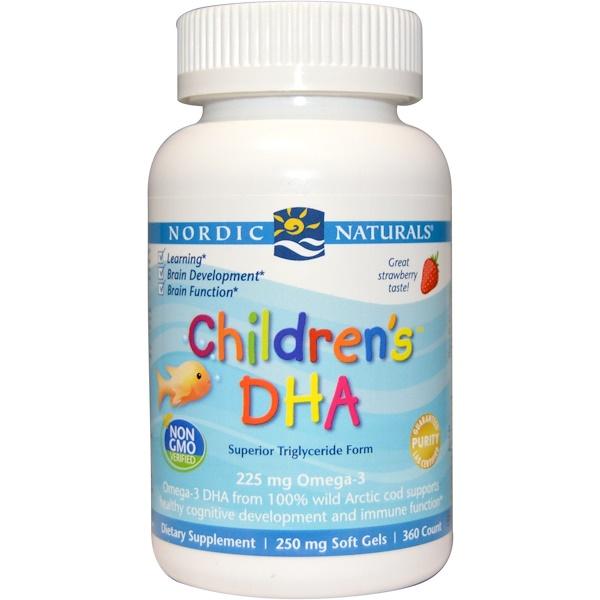 Nordic Naturals, Children's DHA, Strawberry, 360 Soft Gels