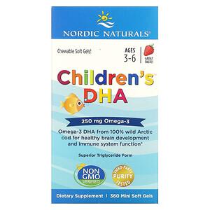 нордик Натуралс, Children's DHA, Ages 3-6, Strawberry, 250 mg, 360 Mini Soft Gels отзывы