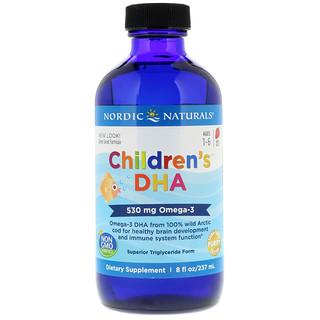 Nordic Naturals, Children's DHA, Strawberry, 8 fl oz (237 ml)